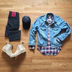 #acnestudios #denim #jacket #thomebrowne #shirt #rafsimons #jeans #commonprojects #chelseaboots #jamesperse #hat