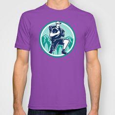 Hiker Hiking Mountain Retro T-shirt
