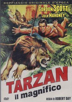 Action Movie Poster, Movie Poster Art, Action Movies, Tarzan Movie, Tarzan Of The Apes, World Movies, Adventure Movies, Classic Films, Vintage Movies