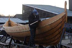 Real recreated Viking ships at the Roskilde Viking Ship Museum, Denmark