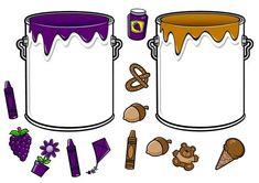 * Doe alles in de juiste verfpot! Color Activities, Learning Activities, Activities For Kids, Crafts For Kids, Preschool Colors, Teaching Colors, File Folder Activities, Color Games, Tot School