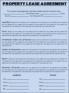 Free Printable Rental Lease Agreement Form Template | Bagnas ...