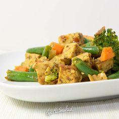 Sycący obiad w 15 minut pełen protein Tempeh, Potato Salad, Protein, Recipies, Good Food, Food And Drink, Gluten Free, Vegan, Chicken