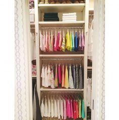 a perfectly organized kids closet #organize #rainbow