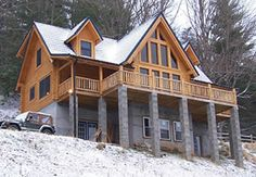 Log Homes and Rustic Mountain Homes & Cabins - Design Construction & Materials by Steve's Custom Log Homes of Franklin North Carolina