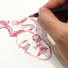 "4,189 Likes, 22 Comments - unique (@uniquelab) on Instagram: ""Short clips of recent sketches on Moleskine and MAKR note. Moleskine 5""x8 1/4"". 4""x6"" MAKR note.…"""
