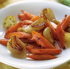 Glazed Carrots & Shallots with Thyme from Recipe.com