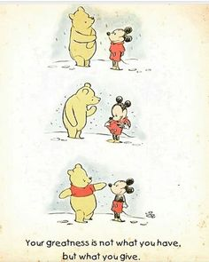 This is so pure. Winnie the Pooh and Mickey mouse get their iconic outfits. Humor Disney, Funny Disney Memes, Funny Memes, Cute Disney Quotes, Disney Amor, Disney Magic, Disney And Dreamworks, Disney Pixar, Disney Drawings