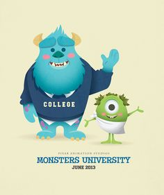 Monsters are taking over Pixar for the next year, with the re-release of Monsters, Inc. on track to release in December and the prequel, Monsters University, being completed for its premiere in … Walt Disney, Disney Magic, Disney Pixar, Dreamworks, Disney Monsters, Cute Monsters, Disney Babys, Cute Disney, Disney Couples