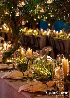 10 Unbelievably Creative Wedding Centerpiece Ideas: #1. Ethereal Fairy Lights