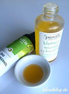 Meine Öle gegen Haarausfall & trockene Haare : Klettenwurzeloel und Traubenkernöl :)