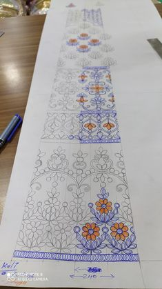 Lehenga Designs, Embroidery Patterns, Pattern Design, Surface, Textiles, Drawings, Photos, Home Decor, Art