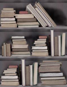 Behang Bibliotheek (ivoor) - Koziel   Walls   Pinterest - Ivoor ...