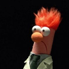 These are the coolest GIF loops I've ever seen - Office Memes Beaker Muppets, Die Muppets, Animal Muppet, Amazing Animals, For Elise, Fraggle Rock, The Muppet Show, Office Memes, Cartoon Gifs