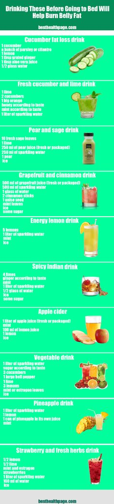 Drinking These Before Going to Bed Will Help Burn Belly Fat