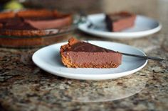 Dark Chocolate Amaretto Pie