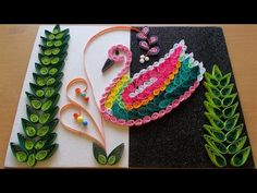 DIY Home Decor With Paper Quilling Art : Amazing DIY Room Decor With Bird Quilling Pattern - YouTube