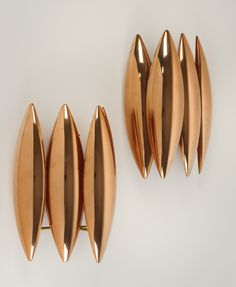 Louis Weisdorf; Copper Wall Lights for Fog & Mørup, c1960.