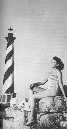 Two things I love- old fashioned pin-up girl and. Outer Banks North Carolina, Outer Banks Nc, Outer Banks Vacation, North Carolina Lighthouses, Cape Hatteras Lighthouse, Hatteras Island, Vacation Resorts, Beach Walk, Bathing Beauties