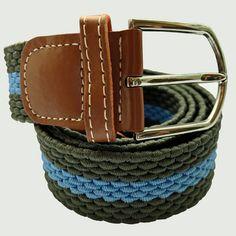 Shop|Horizontal|Stripe|Woven|Belt|Green|Blue|Buy|Bassin and Brown – Bassin And Brown Leather Belts, Men's Belts, Woven Belt, Black Chevron, Brown Belt, Looking Stunning, Stripes Design, Belt Buckles, Wax