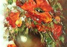 Znalezione obrazy dla zapytania maki w malarstwie olejnym