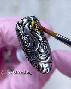 Nail Art Designs Videos, Nail Art Videos, Fancy Nails, Trendy Nails, Art Deco Nails, Nail Mania, New Nail Art Design, Exotic Nails, Flower Nail Art