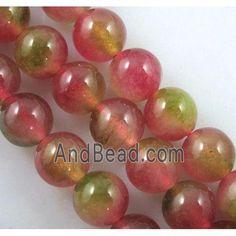 round watermelon Jade Beads, stabile dia, approx per st Jade Beads, Watermelon, Saints