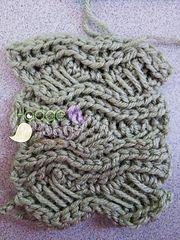 Crochet Indian Cross Stitch Swatch by Tanya Naser
