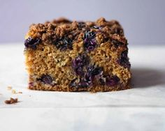 Rachel Allen's dairy-free cake is topped with sticky crumble and oozing with bursting blueberries Recipe Printer, Blueberry Crumble Cake, Rachel Allen, Square Cakes, Crumble Topping, Cake Tins, Cakes And More, Dairy Free, Cake Recipes