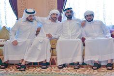 Mohammed bin Rashid bin Saeed Al Maktoum con su hijos: Maktoum, Hamdan y Ahmed bin Mohammed bin Rashid Al Maktoum, 06/07/2016. Vía: hhshkmohd