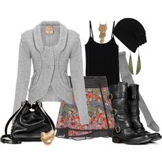 """print wrap skirt and tights"" by smhallam on Polyvore"