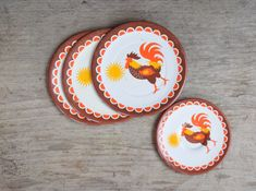 Jay Willfred (div. Of Andrea By Sedek) Handpainted Rooster Plates   Rooster  Plates   Pinterest   Rooster Plates