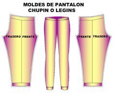 moldes pantalon chupin leggins dama Moldes De Pantalones 9b47c491ff6f