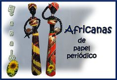 SOL EN SU MUNDO DE PAPEL: AFRICANAS CON PAPEL PERIODICO