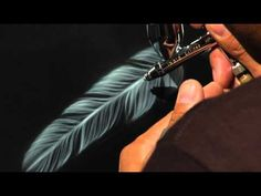 ▶ Airbrush.TV Jonathan Pantaleon Airbrush Feather Tutorial - YouTube