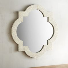 Ivory Mother-Of-Pearl Quatrefoil 20x20 Mirror