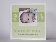 Geburtskarte, Danksagung, Geburt, Baby N°02 von PuckisKram auf DaWanda.com