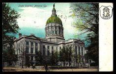 Georgia Capitol Postcard 1907 Atlanta State House Seal Antique PC