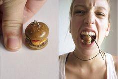 Junk - Burger - Very Limited handmade jewels by Morgane Morel