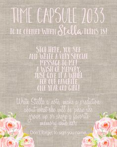 Time Capsule 1st Birthday Time Capsule First by BlushPartyBoutique