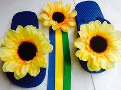 Frozen Fever Anna Inspired Sunflower Hair Bow Clip by ChicbyRose