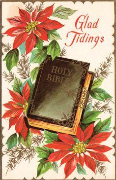 Glad Christmas tidings.