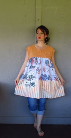 15 off summer Bohemian dress tunic/eco by lillienoradrygoods, $75.50