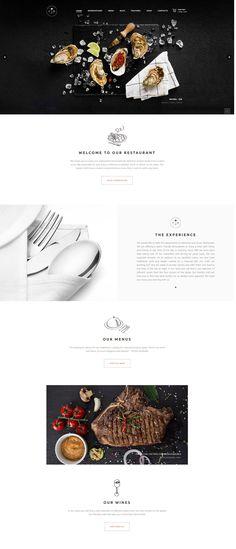 #seafood #restaurant #WordPress #design