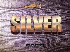 Silver Text Effect - Freebies