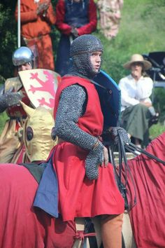 german knight from the reenactment group, Loewenbanner. Awesome clothing. XIII th century. Thanks to the knight von Hayn.