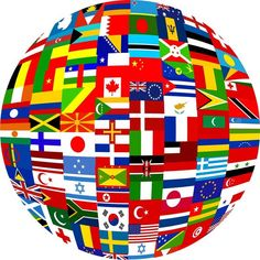 Illustration about Globe planet made up of flags from all over the world. Illustration of flags, graphic, world - 6332310 Board Game Online, Online Games, Board Games, Flags Of The World, Countries Of The World, All Over The World, Wii U, Koi, Voyager C'est Vivre