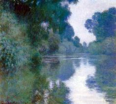 Claude Monet - Bras de Seine près de Giverny                                                                                                                                                                                 Plus