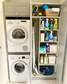 "Exceptional ""laundry room storage diy"" information is offered on our website. Take a look and you wont be sorry you did. Small Utility Room, Utility Room Storage, Utility Room Designs, Small Laundry Rooms, Laundry Room Organization, Closet Storage, Bedroom Storage, Storage Stairs, Laundry Organizer"