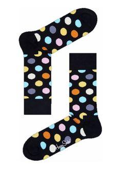 Sokken Happy Socks Big Dot zwarte met kleurrijke bollen